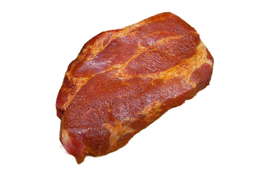 Schweinesteak, eingelegt